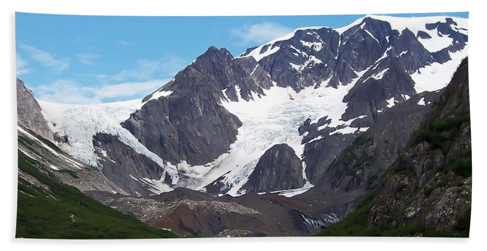 Alaska.snow Bath Sheet featuring the photograph Ice And Snow by Aimee L Maher ALM GALLERY