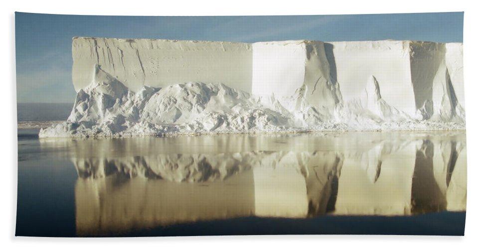 Sunshine Bath Sheet featuring the photograph Iceberg Ross Sea Antarctica by Carole-Anne Fooks