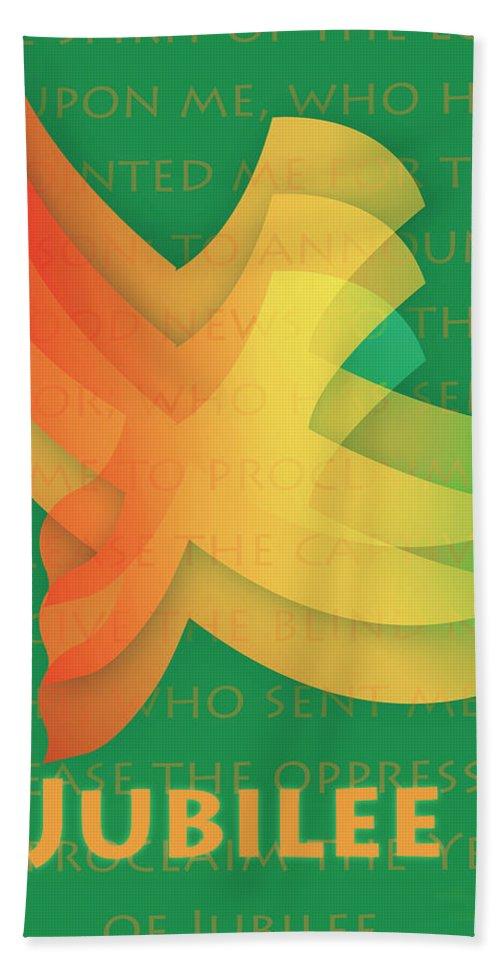 Jubilee Bath Sheet featuring the digital art Jubilee by Chuck Mountain