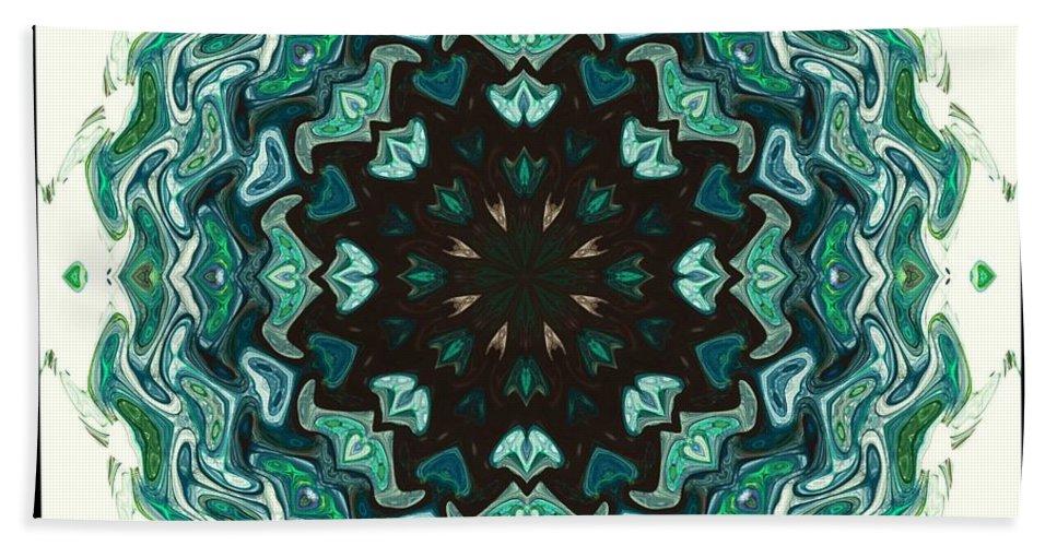 Kaleidoscope Hand Towel featuring the digital art Kaleidoscope by Elizabeth McTaggart