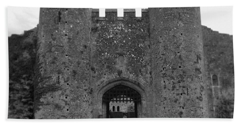 Photograph Hand Towel featuring the photograph Keys To The Castle - Black And White by Nicole Parks