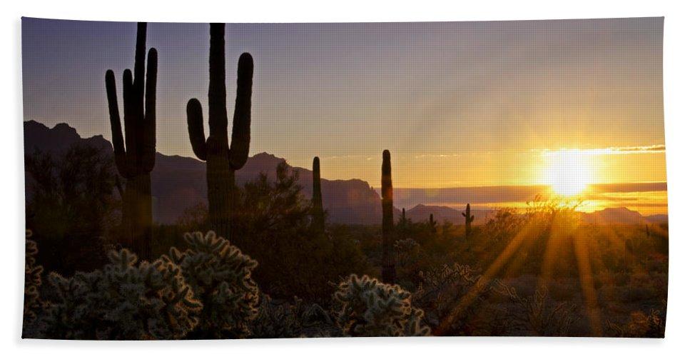 Sunrise Bath Towel featuring the photograph Let It Shine by Saija Lehtonen