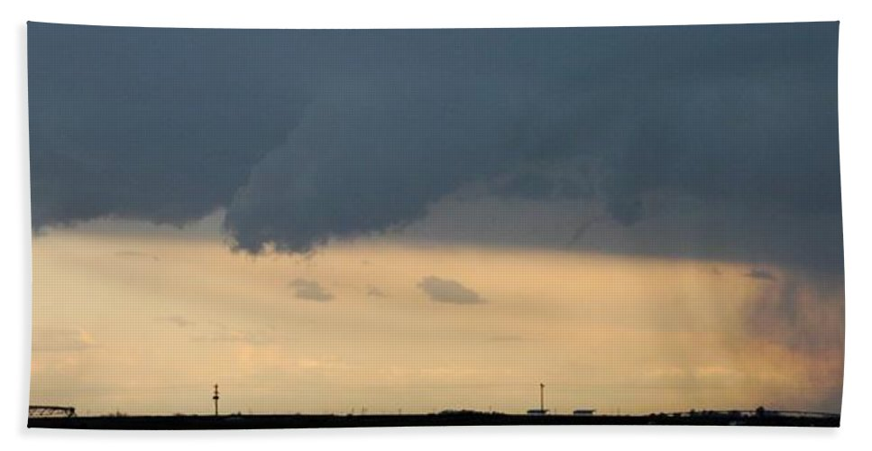 Stormscape Bath Sheet featuring the photograph Let The Storm Season Begin by NebraskaSC