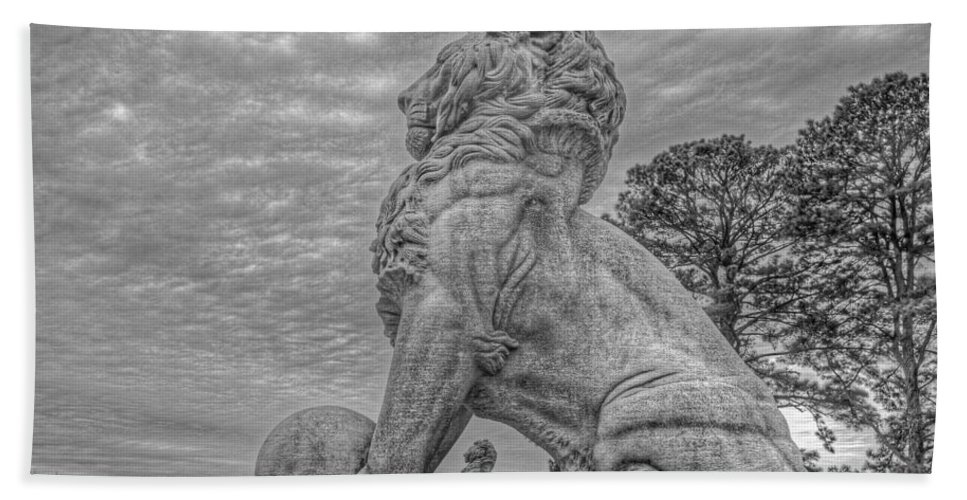 Double Lions Bath Sheet featuring the photograph Lions Bridge East Lake Side by Jerry Gammon