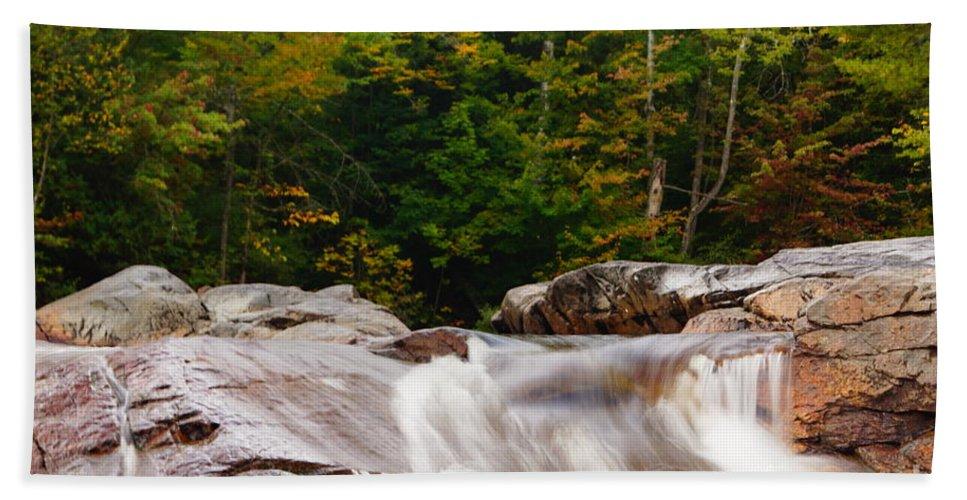 Waterfalls Bath Sheet featuring the photograph Little Falls by Jeffery L Bowers