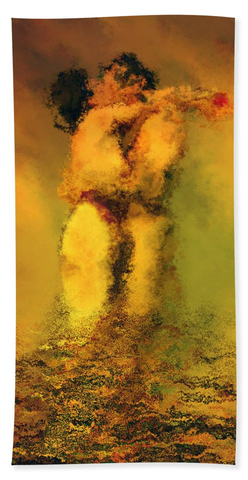 Nudes Bath Towel featuring the photograph Lovers by Kurt Van Wagner