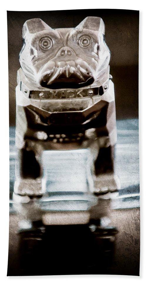 Mack Truck Hood Ornament Hand Towel featuring the photograph Mack Truck Hood Ornament by Jill Reger