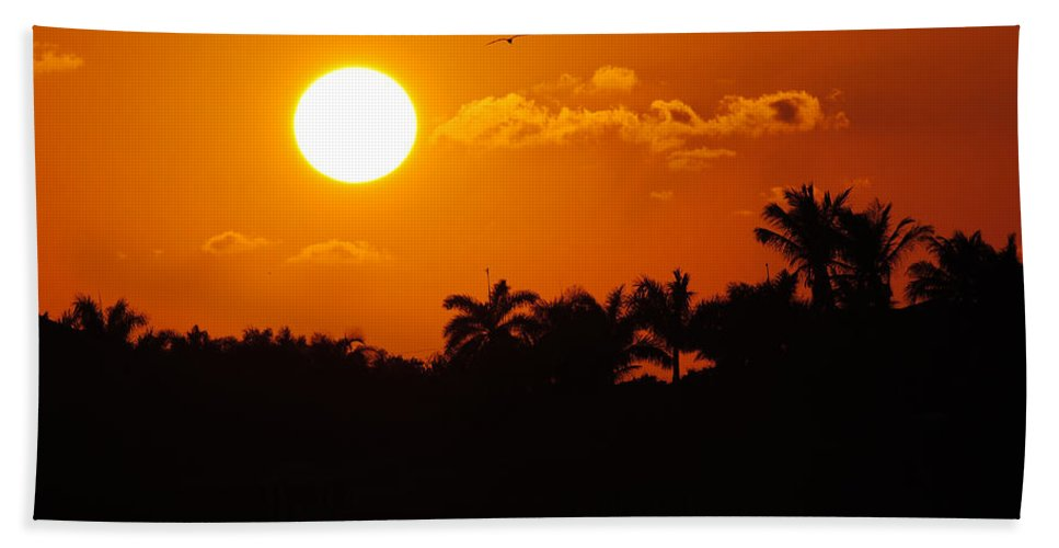 Marco Hand Towel featuring the photograph Marco Island Sunset by David Hart