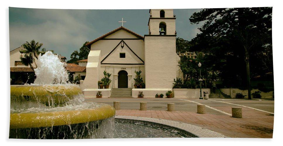 Mission San Buenaventura Hand Towel featuring the photograph Mission San Buenaventura by Mountain Dreams