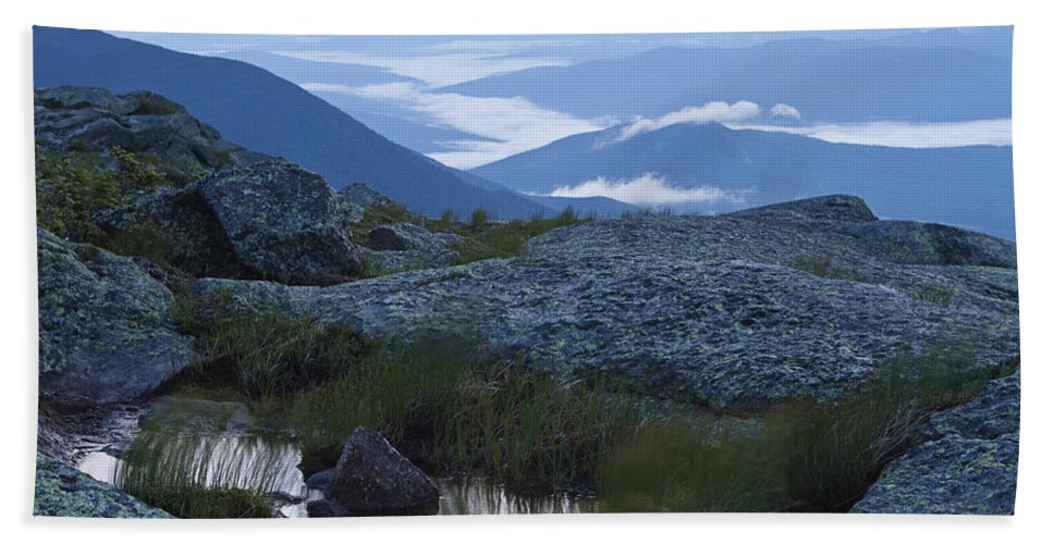 Mt Washington Bath Sheet featuring the photograph Mt. Washington Blue Hour by John Vose