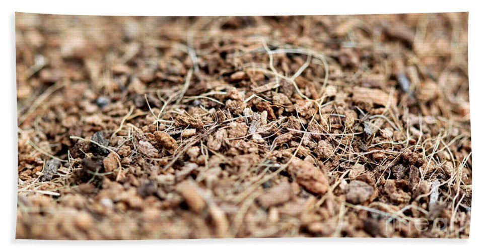 Mulch Bath Sheet featuring the photograph Mulch by Henrik Lehnerer