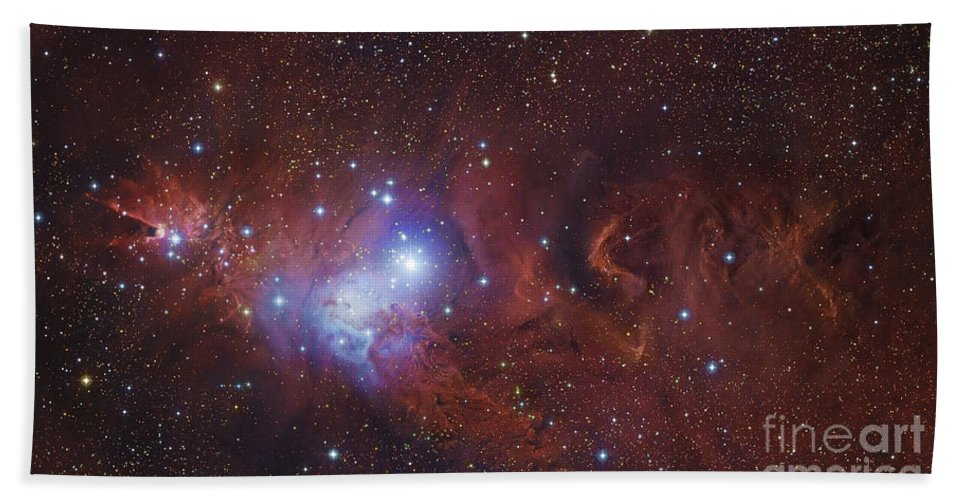 Nebulous Hand Towel featuring the photograph Ngc 2264, The Cone Nebula Region by Robert Gendler