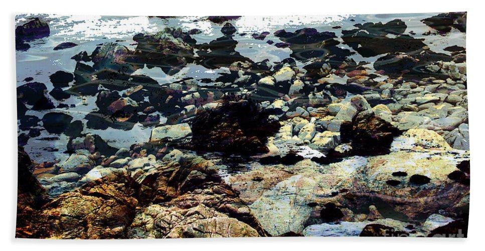 Ocean View Digital Image Bath Sheet featuring the digital art Ocean View by Yael VanGruber