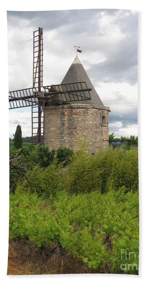 Mill Bath Sheet featuring the photograph Old Windmill by Christiane Schulze Art And Photography