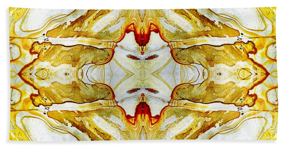 Abstract Bath Towel featuring the photograph Patterns In Stone - 150 by Paul W Faust - Impressions of Light