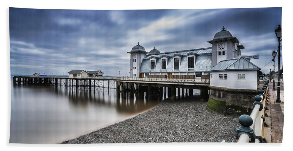 Penarth Pier Hand Towel featuring the photograph Penarth Pier 1 by Steve Purnell