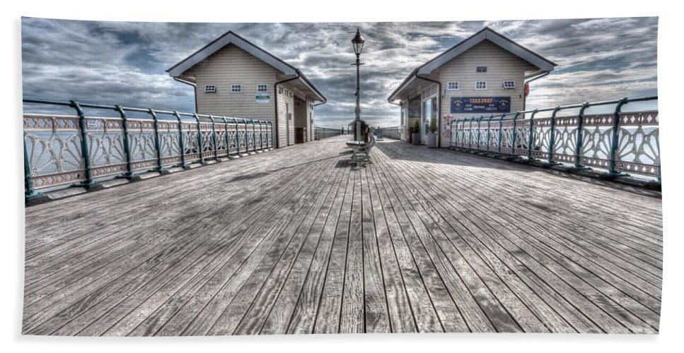 Penarth Pier Bath Sheet featuring the photograph Penarth Pier 3 by Steve Purnell