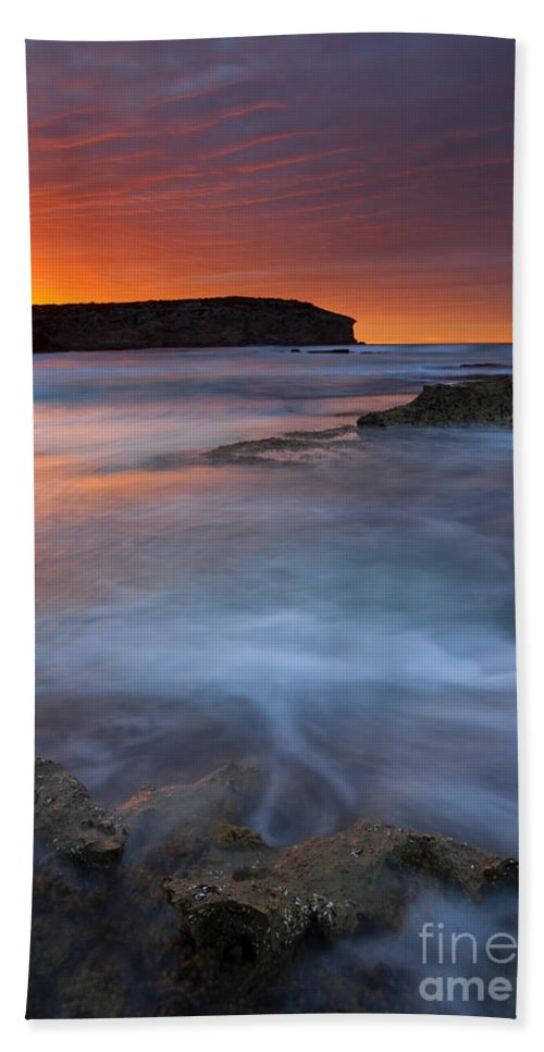 Pennington Bay Hand Towel featuring the photograph Pennington Dawn by Mike Dawson