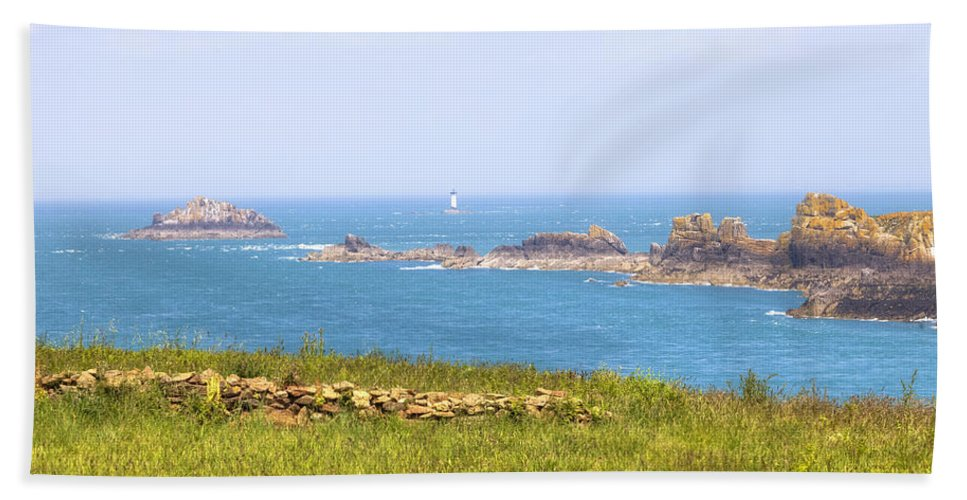 Pointe Du Grouin Hand Towel featuring the photograph Pointe Du Grouin - Brittany by Joana Kruse