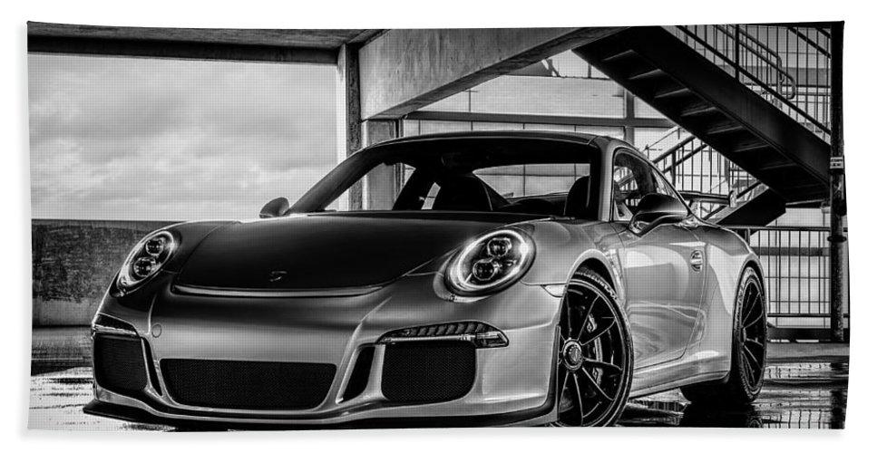 Porsche Hand Towel featuring the digital art Porsche 911 GT3 by Douglas Pittman