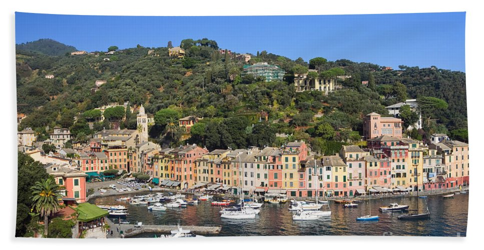 Anchor Hand Towel featuring the photograph Portofino by Antonio Scarpi