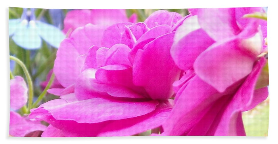 Flower Bath Towel featuring the photograph Pretty Pink Flower by Line Gagne