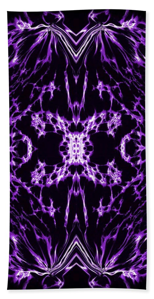 Original Hand Towel featuring the painting Purple Series 2 by J D Owen