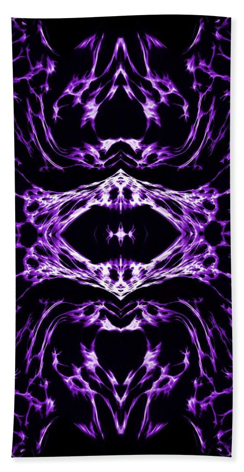 Original Hand Towel featuring the painting Purple Series 3 by J D Owen