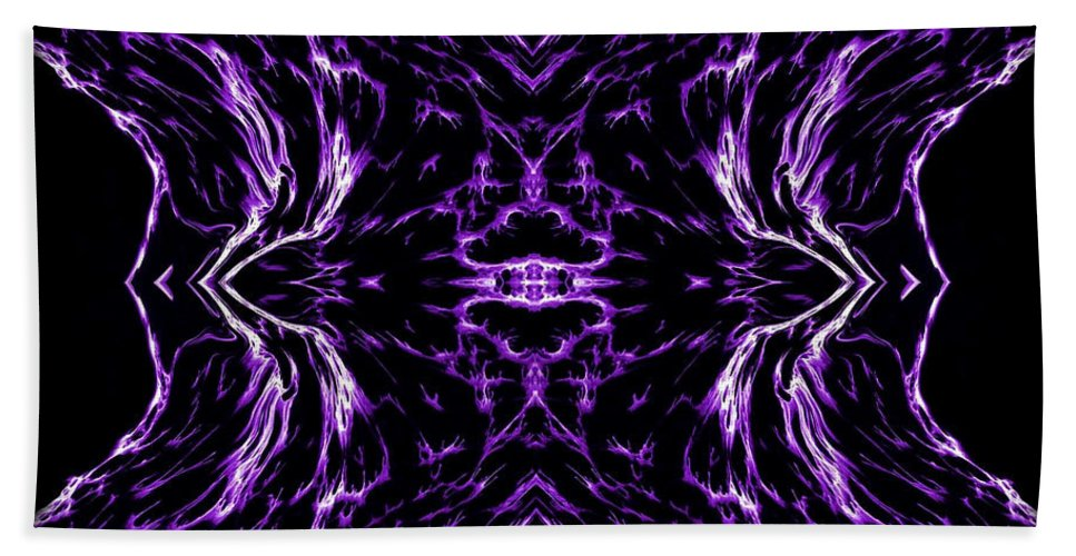 Original Hand Towel featuring the painting Purple Series 7 by J D Owen