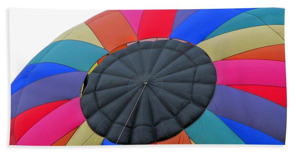 Hot Air Balloons Bath Sheet featuring the photograph Rainbow by Jamie Smith