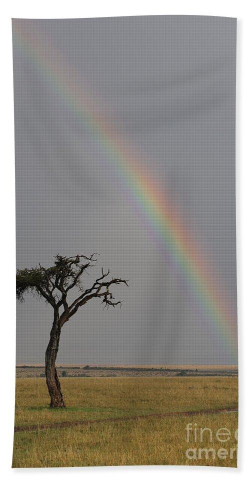 Africa Bath Sheet featuring the photograph Rainbow by John Shaw