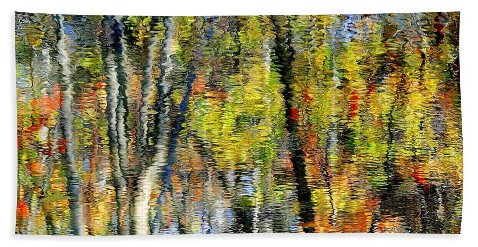 Landscape Bath Sheet featuring the photograph Rippley Reflection by Frozen in Time Fine Art Photography