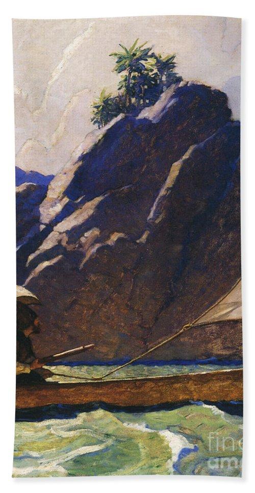 1920 Bath Sheet featuring the photograph Robinson Crusoe, 1920 by Granger