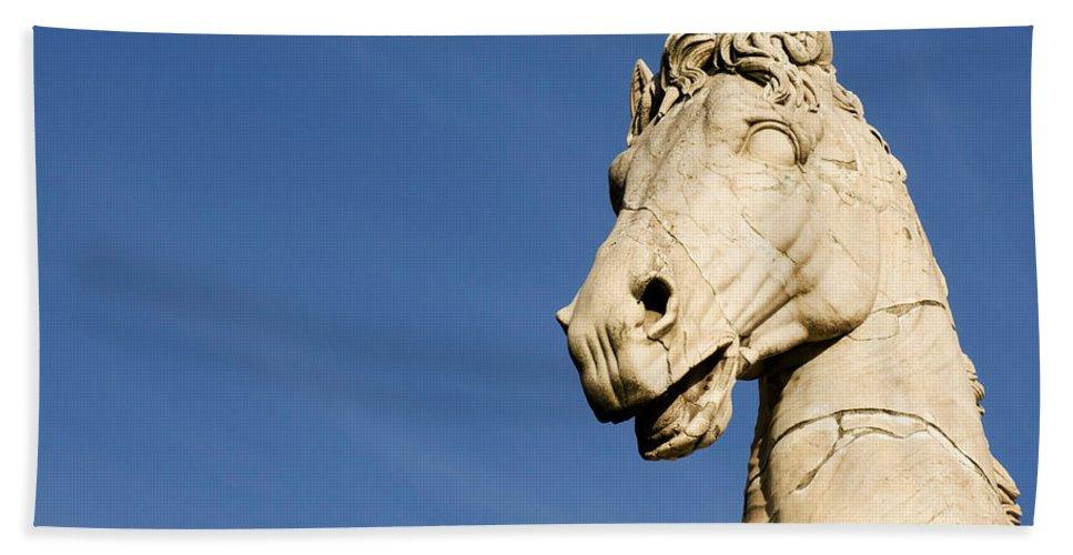 Rome Hand Towel featuring the photograph Roman Statue by Fabrizio Troiani