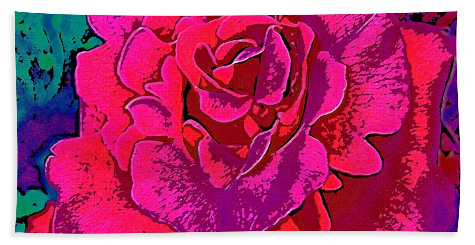 Flower Bath Sheet featuring the photograph Rose 18 by Pamela Cooper