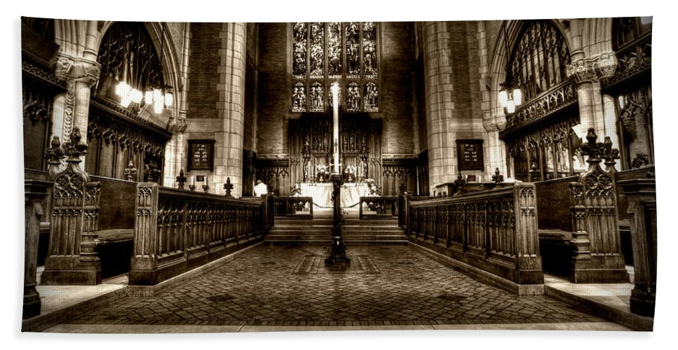 Mn Church Hand Towel featuring the photograph Saint Marks Episcopal Cathedral by Amanda Stadther