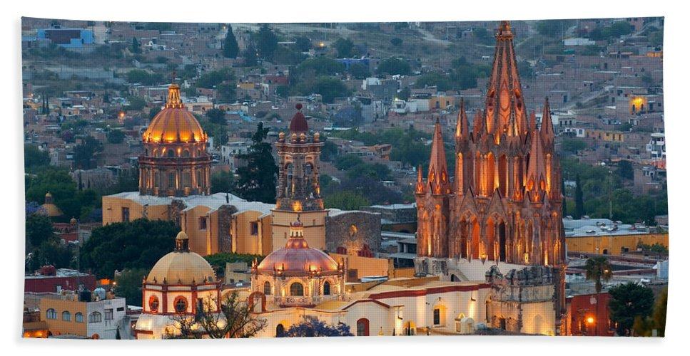 San Miguel De Allende Bath Sheet featuring the photograph San Miguel De Allende, Mexico by John Shaw