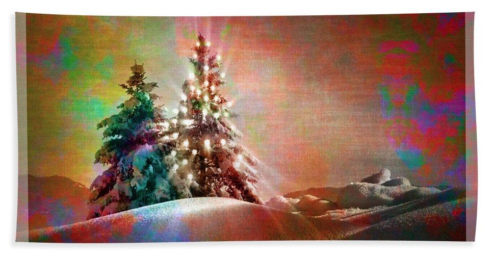 Digital Art Bath Sheet featuring the photograph Season's Greetings by Edmund Nagele