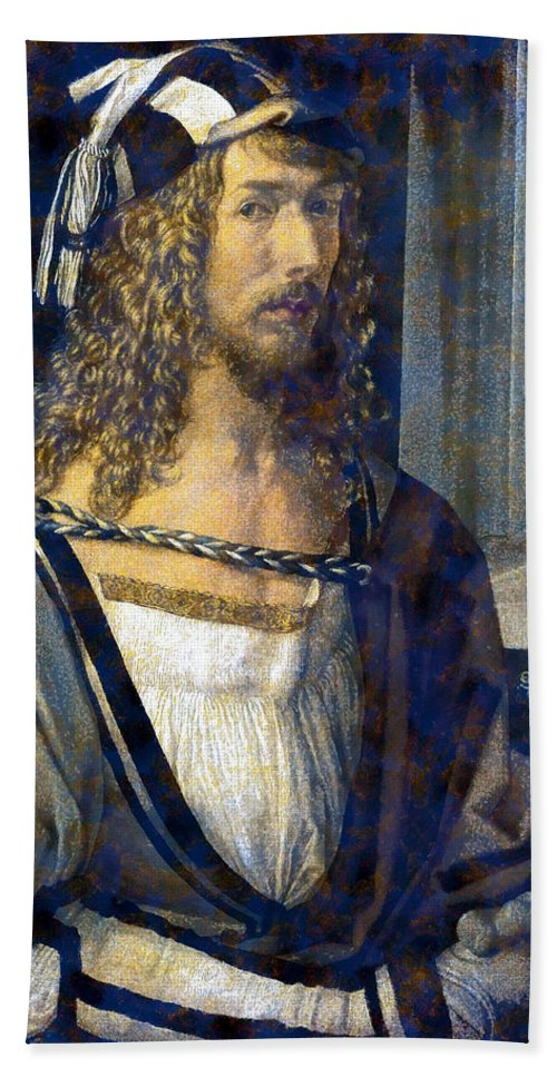 Albrecht Durer Bath Sheet featuring the digital art Self Portrait by Albrecht Durer