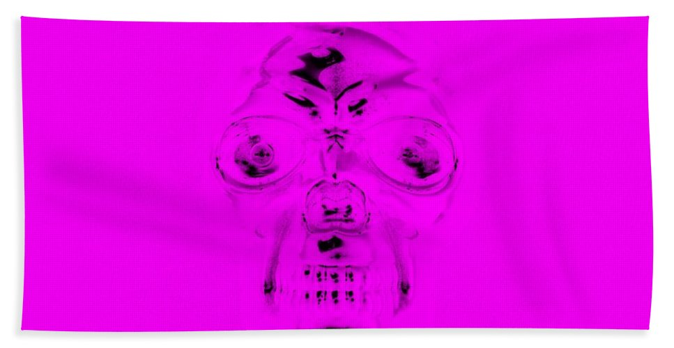 Skull Bath Sheet featuring the photograph Skull In Purple by Rob Hans