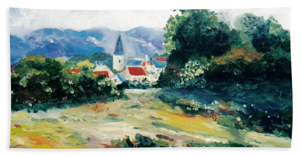 Impressionist Hand Towel featuring the painting Southern Sunday by Julie Brugh Riffey