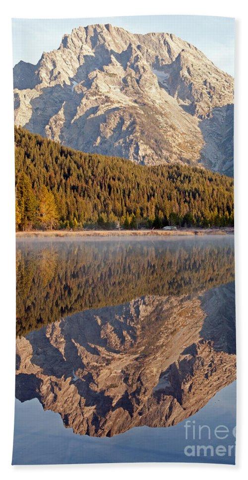 Grand Teton Np Bath Sheet featuring the photograph String Lake Grand Teton National Park by Fred Stearns