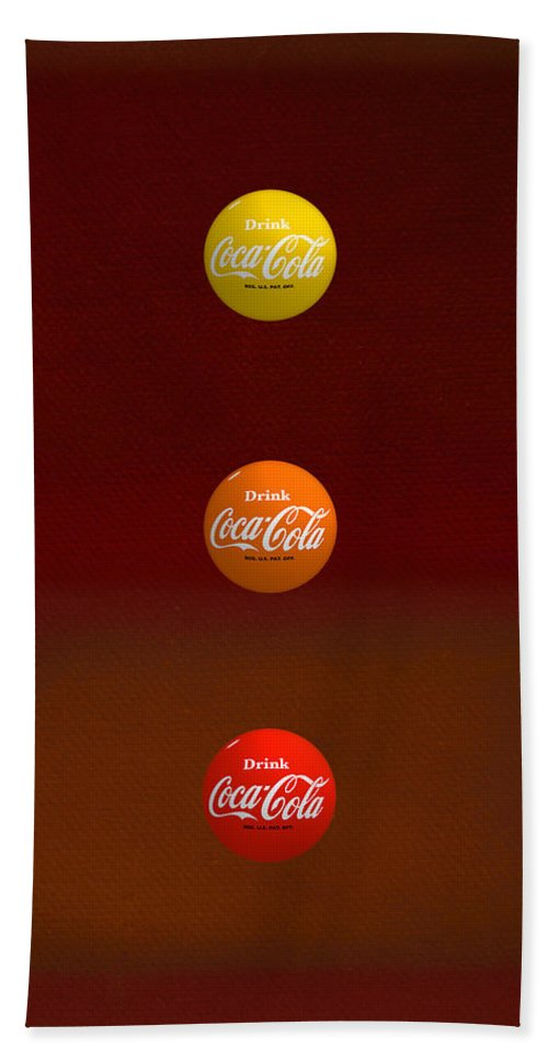 Coca-cola Hand Towel featuring the painting Sundown by Charles Stuart