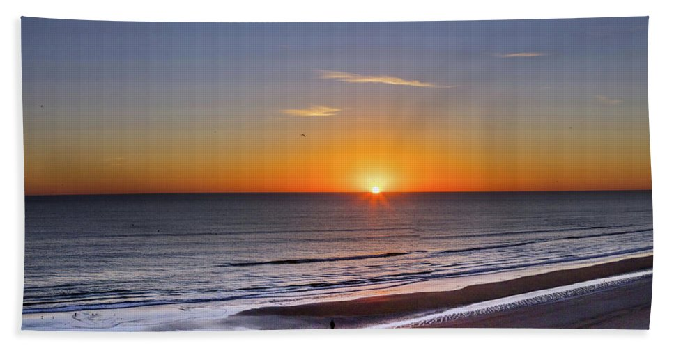 Photography Bath Sheet featuring the photograph Sunrise Over Atlantic Ocean, Florida by Panoramic Images