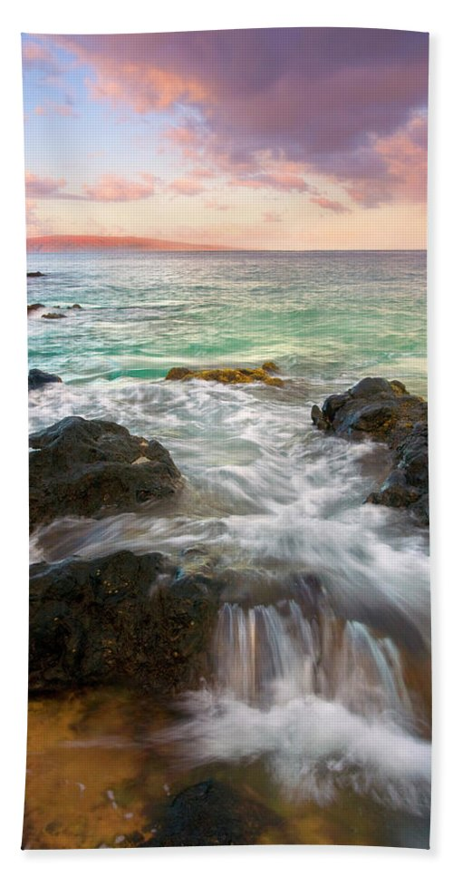 Sunrise Hand Towel featuring the photograph Sunrise Surge by Mike Dawson