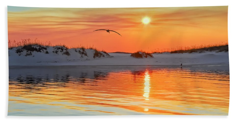 Sunset Hand Towel featuring the photograph Sunswept by Janet Fikar