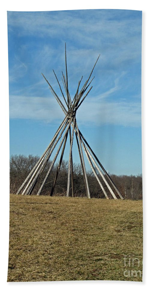 Indian Bath Sheet featuring the photograph Tee Pee by Jamie Smith