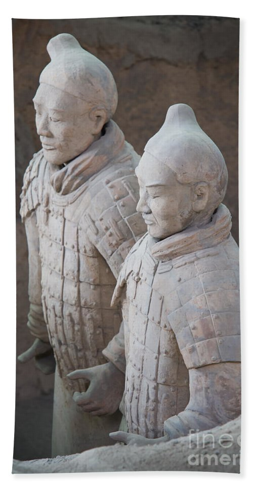 Archeology Bath Sheet featuring the photograph Terracotta Warriors, China by John Shaw