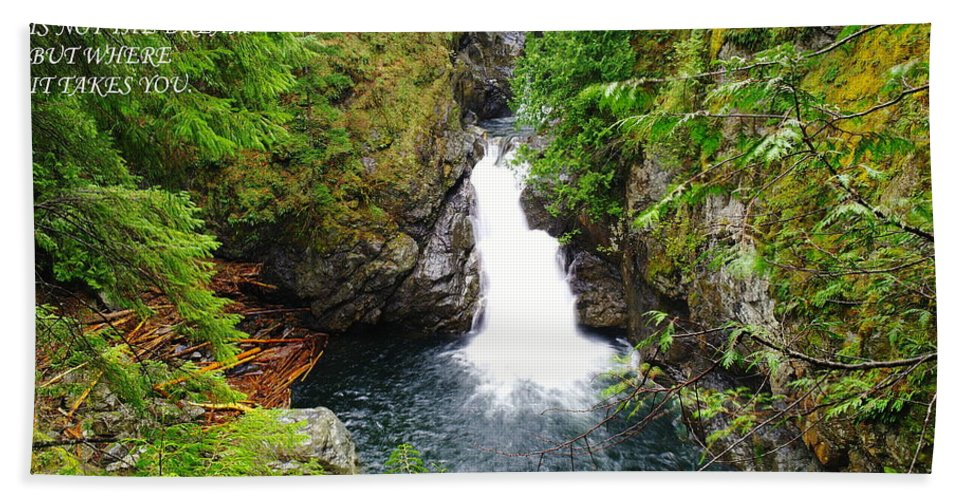 Waterfalls Hand Towel featuring the photograph The Beauty by Jeff Swan