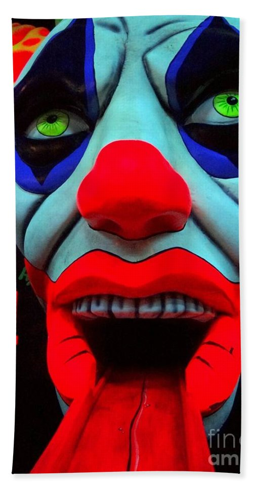 Clowns Hand Towel featuring the photograph The Clown by Ed Weidman